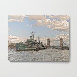 HMS Belfast 2 Metal Print
