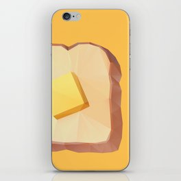 Toast with Butter polygon art iPhone Skin