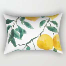 yellow lemon 2018 Rectangular Pillow