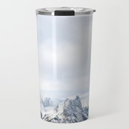 Looking out over the Rockies, in Banff Travel Mug