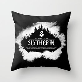 Slytherin B&W Throw Pillow