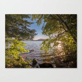 Secret Place By The Lake Canvas Print