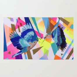 Geo Fly Birds Rug