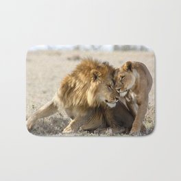 Lions in Love Bath Mat