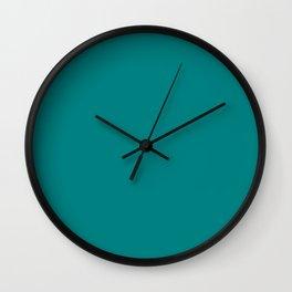 Dark Cyan Wall Clock