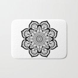 Black and White Flower Bath Mat