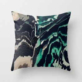 Underwater Stripes Throw Pillow