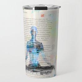 Yoga Book. Lesson 1 Concentration - painting - art print  Travel Mug