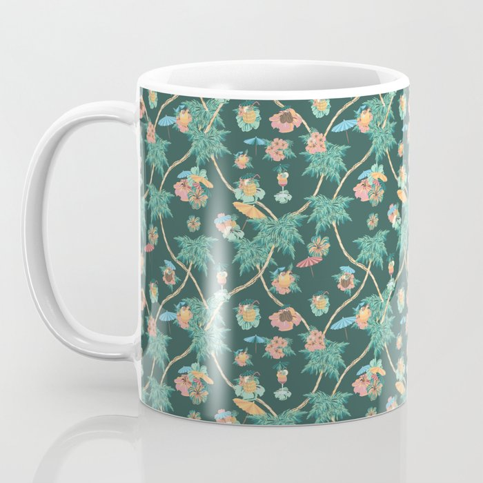 Tropical nights with cocktail pattern Coffee Mug