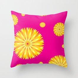 Blooming Flower Throw Pillow