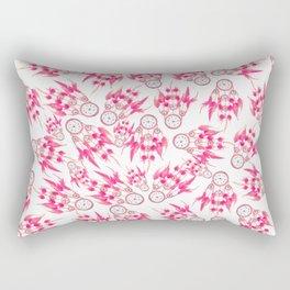 Hipster pink vintage dreamcatcher pattern  Rectangular Pillow