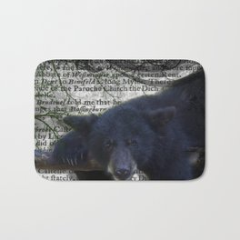 Wildlife Series Black Bear By Moon Willow Designs Bath Mat