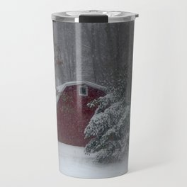 Red Barn in the Snow 2013 Travel Mug