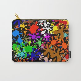 Colourful Fun Paint Blots and Stains Carry-All Pouch
