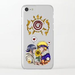 Naruto and Hinata Clear iPhone Case