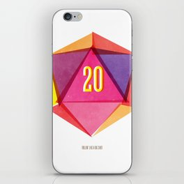 Rolling D20's Like A Big Shot  iPhone Skin