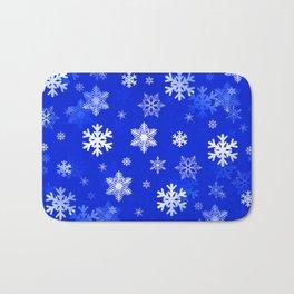 Light Blue Snowflakes Bath Mat