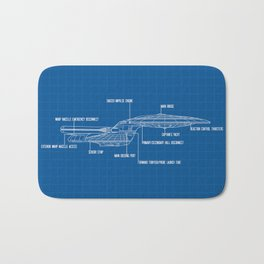 ENTERPRISE NCC-1701-D Bath Mat