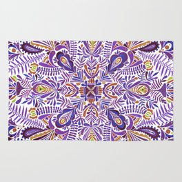 Gloomy purple mandala pattern Rug