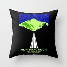 Mont Blanc Alps railway route Throw Pillow