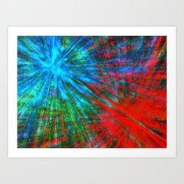 Abstract Big Bangs 001 Art Print