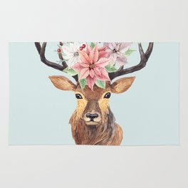 Winter Deer 2 Rug