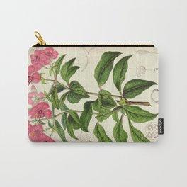 Heterocentron Roseum Vintage Botanical Floral Flower Plant Scientific Carry-All Pouch