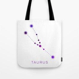 TAURUS STAR CONSTELLATION ZODIAC SIGN Tote Bag