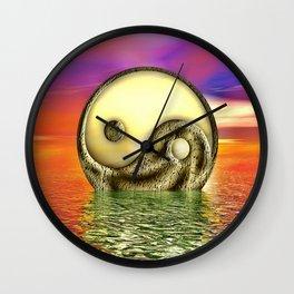 Ying Yang  Zeichen Wall Clock