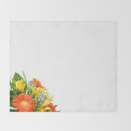 Arranged wedding handheld bouquet Throw Blanket