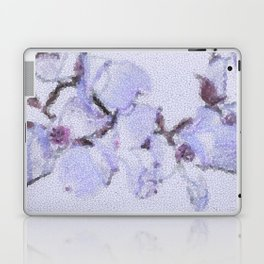 Dogwood Tree Flowers (stained glass-blue) Laptop & iPad Skin