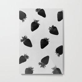 black strawberries Metal Print