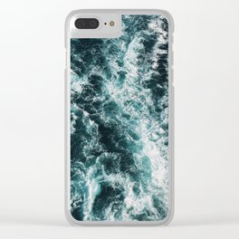 Green Seas, Yes Please Clear iPhone Case