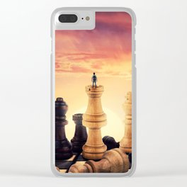 the rise of a chess player Clear iPhone Case