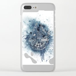 Millennium falcon #mono on white Clear iPhone Case
