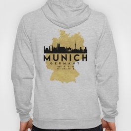 MUNICH GERMANY SILHOUETTE SKYLINE MAP ART Hoody