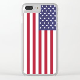 USA flag - Hi Def Authentic color & scale image Clear iPhone Case