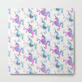 Pastel Unicorns Metal Print