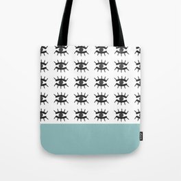 Evil Eye Blue Tote Bag