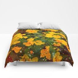 Golden Wallflowers Comforters