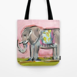 Elated Elephant Tote Bag