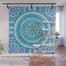 Aquamarine Mandala Pattern Wall Mural