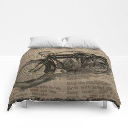 Vintage Indian Motorcycle Comforters