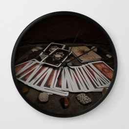 Card readings and Stones Wall Clock