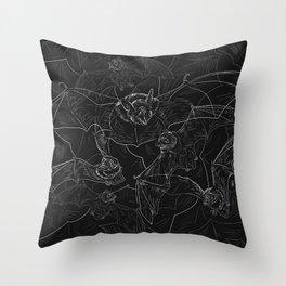 Bat Attack Throw Pillow