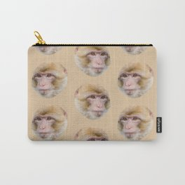 funny cute japanese macaque monkey pattern Carry-All Pouch