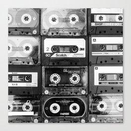 Something Nostalgic - black and white #decor #buyart #society6 Canvas Print
