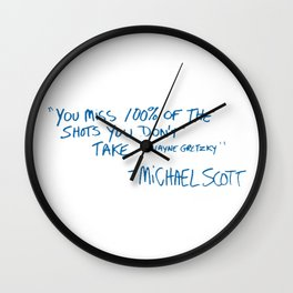 Office Quote Wall Clock