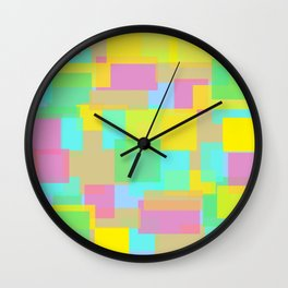 Coloured Blocks Wall Clock