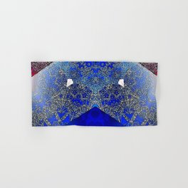 Royalty Inspired Blue Red Gold Abstract Hand & Bath Towel